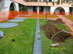 Infiltrazioni d acqua in garage da giardino sovrastante